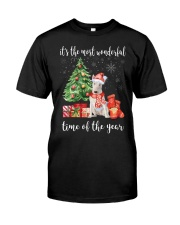 The Most Wonderful Xmas - Bull Terrier Classic T-Shirt front