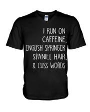 Caffeine and English Springer Spaniel V-Neck T-Shirt thumbnail