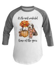 The Most Wonderful Time - Bearded Collie Baseball Tee thumbnail