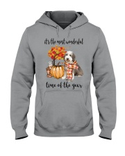 The Most Wonderful Time - Bearded Collie Hooded Sweatshirt thumbnail