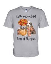 The Most Wonderful Time - Bearded Collie V-Neck T-Shirt thumbnail