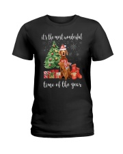 The Most Wonderful Xmas - Vizsla Ladies T-Shirt thumbnail