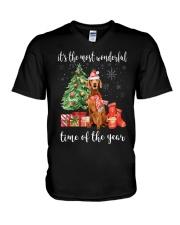 The Most Wonderful Xmas - Vizsla V-Neck T-Shirt thumbnail
