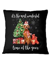 The Most Wonderful Xmas - Vizsla Square Pillowcase thumbnail