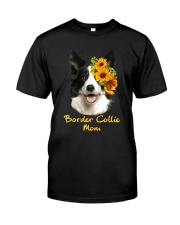 Border Collie Mom Classic T-Shirt front