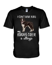My Border Collie is Allergic V-Neck T-Shirt tile