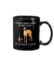 Wine and Sloughi Mug thumbnail