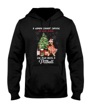 Christmas Wine and Pit Bull Hooded Sweatshirt thumbnail