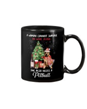 Christmas Wine and Pit Bull Mug thumbnail