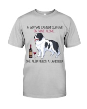 Wine and Landseer 2 Classic T-Shirt front