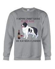 Wine and Landseer 2 Crewneck Sweatshirt thumbnail