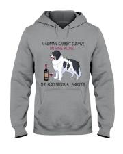 Wine and Landseer 2 Hooded Sweatshirt thumbnail