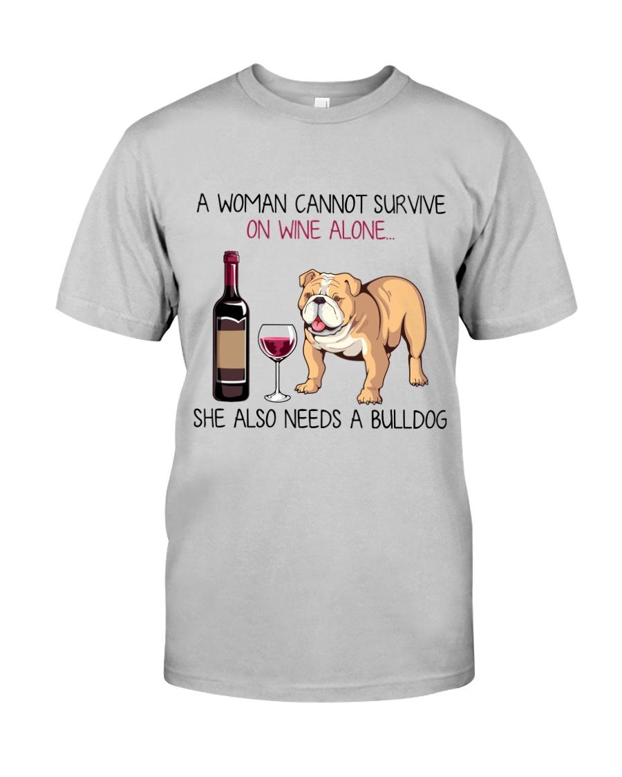 Wine and Bulldog 2 Classic T-Shirt