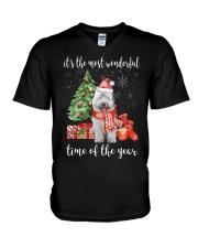 The Most Wonderful Xmas - Old English Sheepdog V-Neck T-Shirt thumbnail