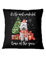 The Most Wonderful Xmas - Old English Sheepdog Square Pillowcase thumbnail