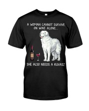 Wine and Kuvasz Classic T-Shirt front