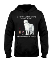 Wine and Kuvasz Hooded Sweatshirt thumbnail