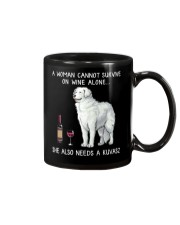 Wine and Kuvasz Mug thumbnail