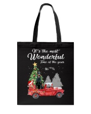 Wonderful Christmas with Truck - Doberman Pinscher Tote Bag thumbnail