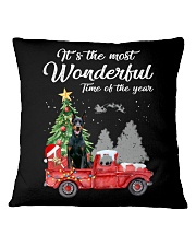 Wonderful Christmas with Truck - Doberman Pinscher Square Pillowcase thumbnail