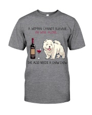 Wine and Chow Chow 2 Classic T-Shirt thumbnail