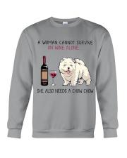 Wine and Chow Chow 2 Crewneck Sweatshirt thumbnail