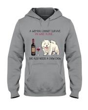 Wine and Chow Chow 2 Hooded Sweatshirt thumbnail