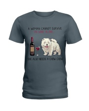 Wine and Chow Chow 2 Ladies T-Shirt thumbnail