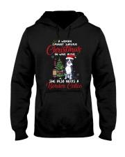 Christmas - Wine and Border Collie  Hooded Sweatshirt thumbnail
