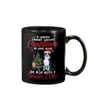 Christmas - Wine and Border Collie  Mug thumbnail