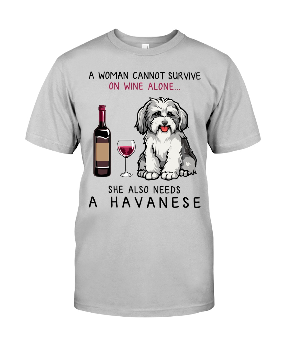 Wine and Havanese 2 Classic T-Shirt