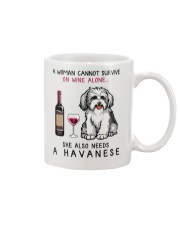 Wine and Havanese 2 Mug thumbnail