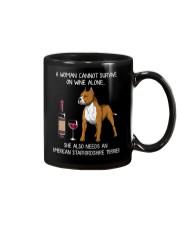 Wine and American Staffordshire Terrier Mug thumbnail