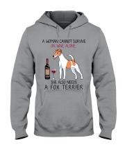 Wine and Fox Terrier 2 Hooded Sweatshirt thumbnail
