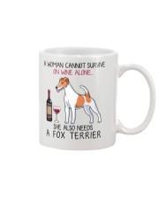Wine and Fox Terrier 2 Mug thumbnail