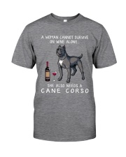 Wine and Cane Corso 3 Classic T-Shirt front