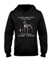 Wine and Cane Corso 3 Hooded Sweatshirt thumbnail
