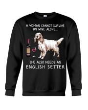 Wine and English Setter Crewneck Sweatshirt thumbnail