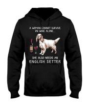 Wine and English Setter Hooded Sweatshirt thumbnail