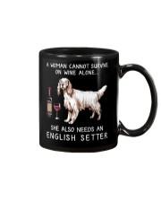 Wine and English Setter Mug thumbnail