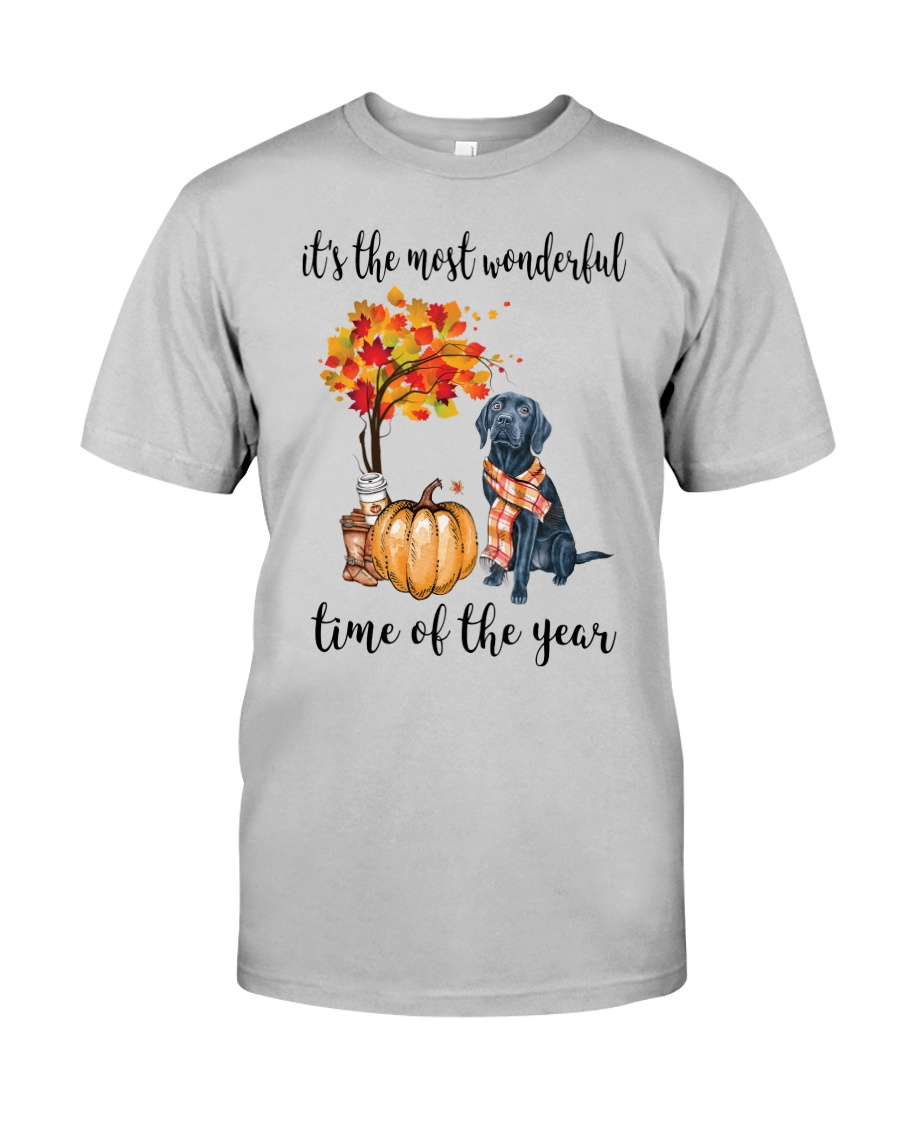 The Most Wonderful Time - Black Labrador Classic T-Shirt