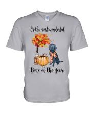 The Most Wonderful Time - Black Labrador V-Neck T-Shirt thumbnail