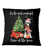The Most Wonderful Xmas - Schnauzer Square Pillowcase thumbnail