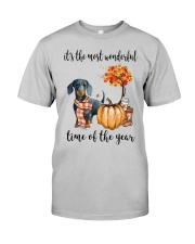The Most Wonderful Time - Dachshund Classic T-Shirt front