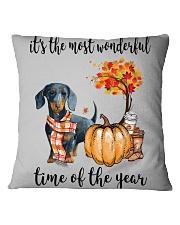 The Most Wonderful Time - Dachshund Square Pillowcase thumbnail