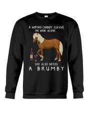 Wine and Brumby Crewneck Sweatshirt thumbnail