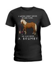 Wine and Brumby Ladies T-Shirt thumbnail