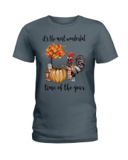 The Most Wonderful Time - Rooster Ladies T-Shirt thumbnail