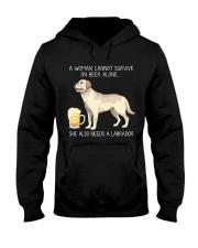 Beer and Labrador Hooded Sweatshirt thumbnail