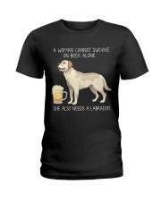 Beer and Labrador Ladies T-Shirt thumbnail